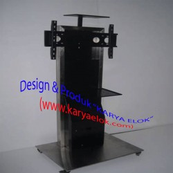 Floor Stand Video Conference  [Kombinasi Stainless]