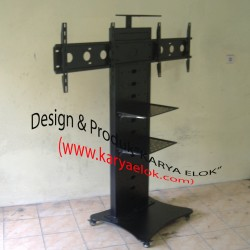 Floor Stand Dual Screen Rak Video Camera Conference