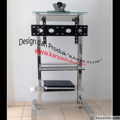 Floor Stand LCD/ Plasma/ TV VICON - Double Rak Audio ( FTA-C10) [Stainless]