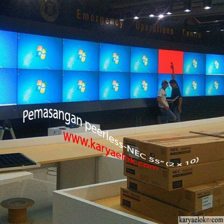 Pemasangan Video Wall 2 x 10